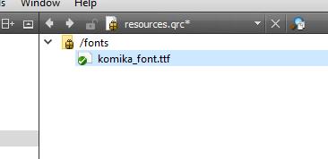 Embed Font Qt