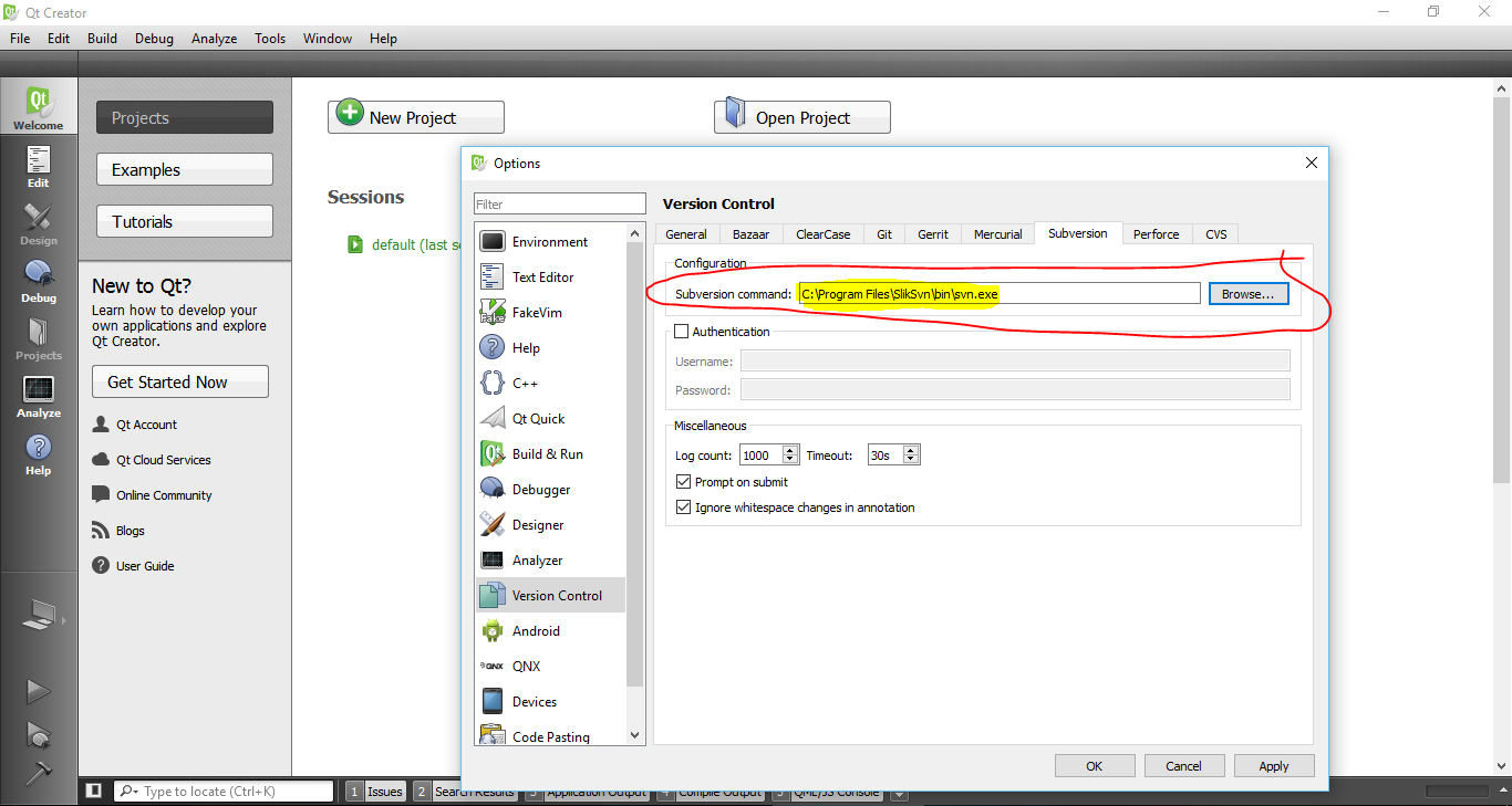 How to Use SVN (Revision Control) with Qt - Amin
