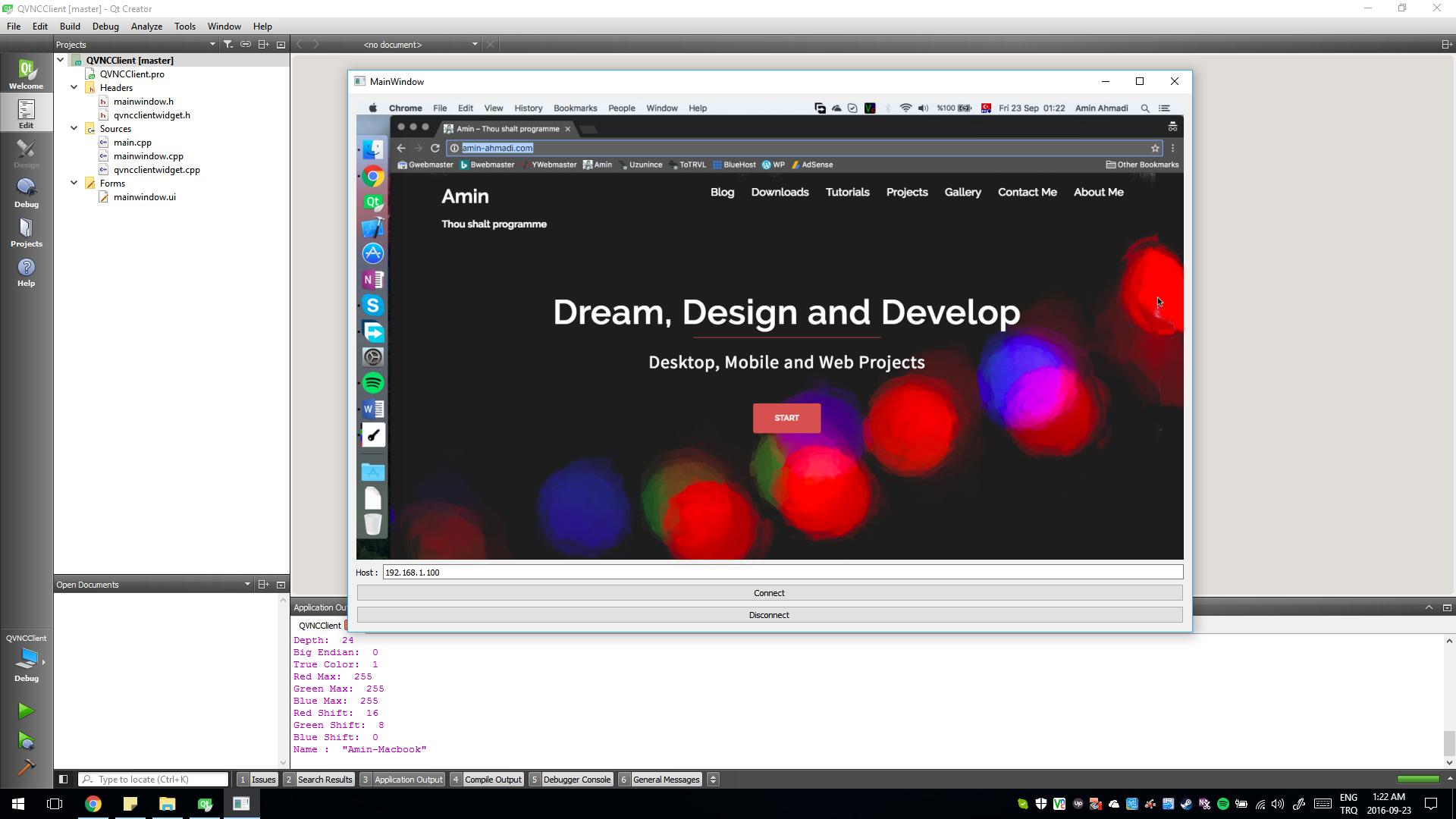 Full Featured VNC Client Widget for Qt - Amin